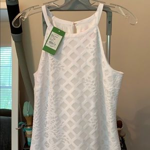 Lilly Pulitzer pineapple GEO lace maxi dress